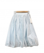 Austin Reed()の古着「ギャザータックバルーンスカート」|スカイブルー