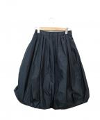 Austin Reed()の古着「ギャザータックバルーンスカート」|ネイビー