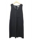 ()の古着「ウールツイルドレス / ノースリーブワンピース」 ブラック
