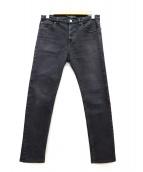 BALENCIAGA(バレンシアガ)の古着「ストレッチスキニーブラックデニムパンツ」|グレー