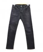 BALENCIAGA()の古着「ストレッチスキニーブラックデニムパンツ」 グレー