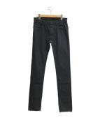 ()の古着「コットンスキニーパンツ」 ブラック