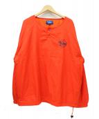 keboz(ケボズ)の古着「ヘンリーネックナイロンプルオーバージャケット」|レッド