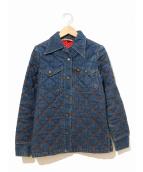 ()の古着「[古着]70'sキルティングデニムシャツ」|インディゴ