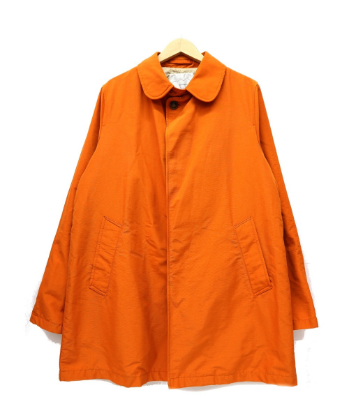 BOULDER MOUNTAIN STYLE(ボルダーマウンテンスタイル)BOULDER MOUNTAIN STYLE (ボルダーマウンテンスタイル) 60/40クロスステンカラーコート オレンジ サイズ:LARGE USA製 DAKOTA COATの古着・服飾アイテム