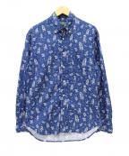 GITMAN BROS(ギットマンブラザーズ)の古着「総柄ボタンダウンシャツ」 ブルー
