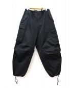 Y's for men(ワイズフォーメン)の古着「ドローストリングスカーゴパンツ」|ブラック