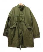 VINTAGE MILITALY(ヴィンテージ ミリタリー)の古着「[古着]70's M-65 PARKA / モッズコート」|カーキ