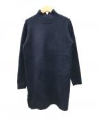 Droite lautreamont(ドロワットロートレアモン)の古着「モックネックニットワンピース」|ネイビー