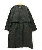 Droite lautreamont(ドロワットロートレアモン)の古着「チルコート / ノーカラーコート」|ブラック