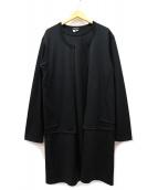 COMME des GARCONS HommePlus(コムデギャルソンオムプリュス)の古着「ドッキングデザインロングカットソー」|ブラック