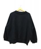 UNUSED(アンユーズド)の古着「クルーネックスウェットシャツ」|ブラック