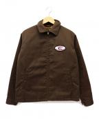 CALEE(キャリー)の古着「ワッペン付き中綿ワークジャケット」|ブラウン