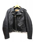 Schott(ショット)の古着「ダブルレザーライダースジャケット」|ブラック