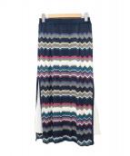 Viaggio Blu(ビアッジョブルー)の古着「プリーツスカート」|ネイビー