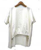 Ujoh(ウジョー)の古着「フロントドローコードTシャツ」|ホワイト