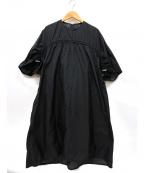 Ujoh(ウジョー)の古着「ドローコードギャザーワンピース」|ブラック