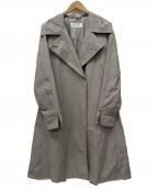 MaxMara()の古着「ベルテッドセミダブルコート」|グレージュ