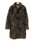 Maison Martin Margiela×H&M(メゾンマルタンマルジェラ×H&M)の古着「beaver coat / エコファービーバーコート」|ブラウン