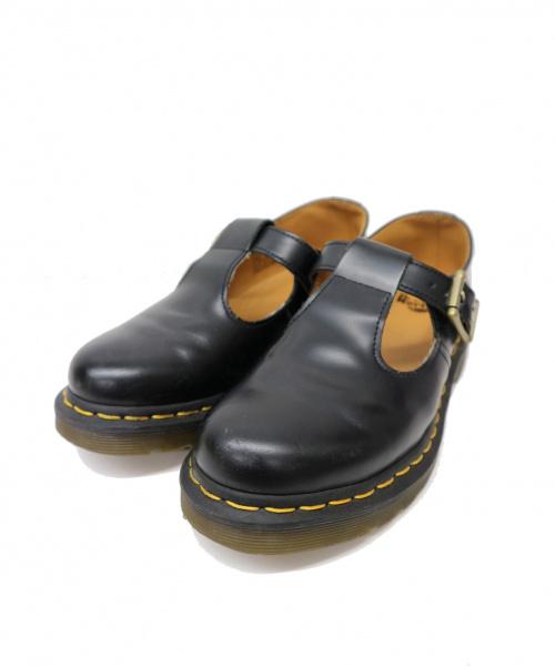 Dr.Martens(ト゛クターマーチン)Dr.Martens (ドクターマーチン) Tストラップレザーシューズ ブラック サイズ:UK4 POLLEY T-BAR ポーリー・Tバーシューズの古着・服飾アイテム