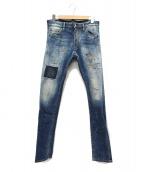 DSQUARED2(ディースクエアード)の古着「リペア加工デニムパンツ」|インディゴ