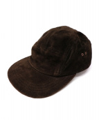 HENDER SCHEME(エンダースキーマ)の古着「ピッグスエードジェットキャップ」|ブラウン