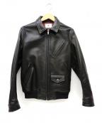 Soe(ソーイ)の古着「シングルレザーライダースジャケット」 ブラック