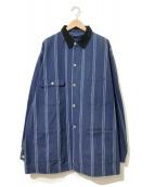 ()の古着「[古着]USA製ストライプカバーオールジャケット」|インディゴ