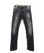 DIESEL(ディーゼル)の古着「ジョグジーンズ / スウェットデニムパンツ」|ブラック