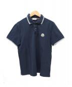 MONCLER(モンクレール)の古着「半袖ポロシャツ」|ネイビー