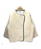 AKTE(アクテ)の古着「ボアミドルブルゾン」|アイボリー