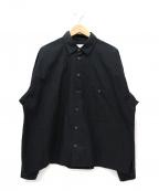 bukht(ブフト)の古着「LOOSE SHIRTS / ルーズシャツ」 ブラック