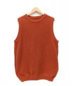 crepuscule(クレプスキュール)の古着「モススティッチニットベスト」|オレンジ