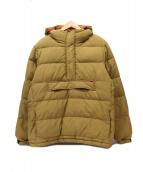 ()の古着「アノラックプルオーバーダウンジャケット」|ベージュ