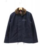 ALPHA(アルファ)の古着「N-1デッキジャケット」|ネイビー