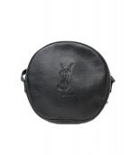 ()の古着「[OLD]丸型サークルレザーショルダーバッグ」|ブラック
