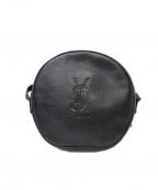 Yves Saint Laurent()の古着「[OLD]丸型サークルレザーショルダーバッグ」|ブラック