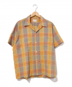TOWN CRAFT(タウンクラフト)の古着「[古着]60'sヴィンテージチェックシャツ」 オレンジ