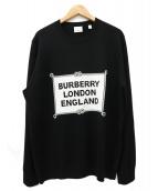 BURBERRY(バーバリー)の古着「クルーネックロゴニット / セーター」|ブラック