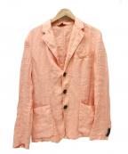 BARENA(バレナ)の古着「リネンテーラードジャケット」|ピンク