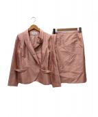 HANAE MORI(ハナエモリ)の古着「スカートスーツ」|ピンク