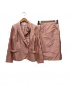 HANAE MORI(ハナエモリ)の古着「スカートスーツ」 ピンク