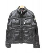 MONCLER(モンクレール)の古着「ライダースバイカーダウンジャケット」|ブラック