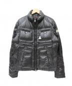 MONCLER()の古着「ライダースバイカーダウンジャケット」|ブラック