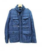 NEIL BARRETT(ニールバレット)の古着「中綿ミリタリージャケット」 ネイビー