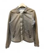 GIORGIO BRATO(ジョルジオ ブラッド)の古着「ダーティーユーズド加工レザージャケット」 グレー