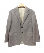DURBAN(ダーバン)の古着「カシミアシルク混テーラードジャケット」|ベージュ
