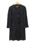 DOLCE & GABBANA()の古着「オールレースコート」|ブラック