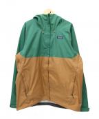 Patagonia()の古着「トレントシェル3Lジャケット」|グリーン×ベージュ