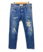 REPLAY(リプレイ)の古着「リペア加工デニムパンツ」|インディゴ